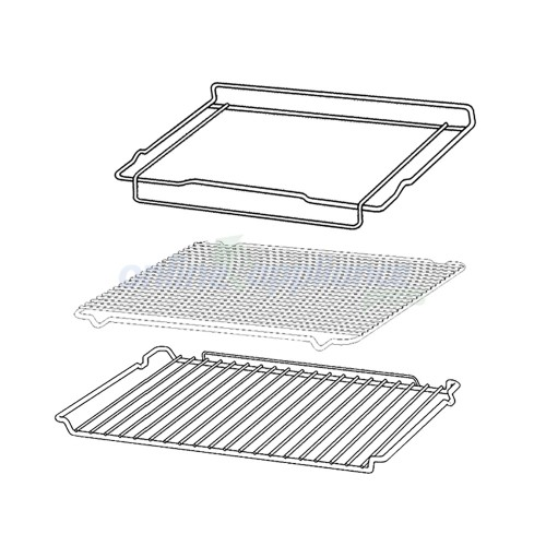0327001362 rack  u0026 tray kit chef oven genuine part
