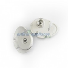 50269760-00/0K Dishwasher Lower Rear Wheel Roller Kit RH pkt x 2 Grey Electrolux Blanco