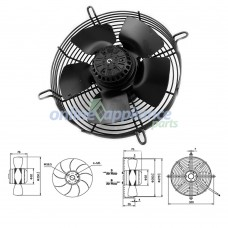 """AC401 Air Conditioner 10"""" Axial Fan 55W Universal"""