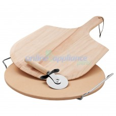 ACC122A Pizza Stone, Cutter and Paddle.