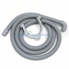1523476-00/8  Hose Drain 90Deg Elbow 2.5M Washing Machine & Dish