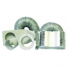 DK4E Deflect-O Dryer Vent Kit wtih Duct - Eave